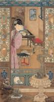 倚窗仕女 镜心 设色绢本 -  - 中国书画 - 2008春季艺术品拍卖会 -收藏网