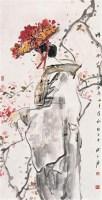 樱花时节 镜心 设色纸本 -  - 中国当代书画 - 2006冬季拍卖会 -收藏网