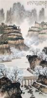 渡桥春色 立轴 纸本 - 魏紫熙 - 中国书画 - 2011春季艺术品拍卖会 -收藏网