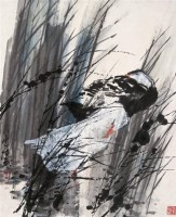 俞云阶 芦塘双鸭 立轴 设色纸本 - 俞云阶 - 中国书画(一) - 2006秋季拍卖会 -收藏网