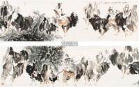 牧驼图 镜心 纸本 - 117502 - 中国书画专场 - 2012年迎春中国书画精品拍卖会 -收藏网