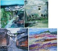 山水梦境 (四件一组) 布面 油画 -  - 名家西画 当代艺术专场 - 2008年春季拍卖会 -中国收藏网