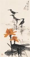 黄永玉 荷花鹭鸟 - 116723 - 中国书画 - 2006年中国艺术品春季拍卖会 -收藏网
