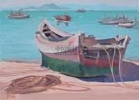 打渔船 纸本水粉 - 吴冠中 - 中国油画及雕塑 - 2006年春季拍卖会 -收藏网