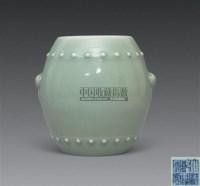 豆青釉鼓式铺首罐 -  - 古代瓷器工艺品专场 - 2008春季艺术品拍卖会 -收藏网