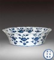 青花龙纹葵口洗 -  - 瓷器 - 2011中博香港大型艺术品拍卖会 -收藏网