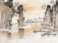 山水 镜心 设色纸本 - 135045 - 中国近现代书画 - 2011秋季拍卖会 -收藏网