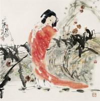刘春明(b.1964)寒枫图 - 刘春明 - 中国书画鉴藏专场 - 2007年秋季中国书画拍卖会 -收藏网