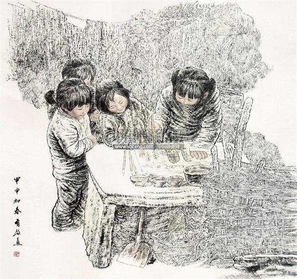 人物 镜片 - 5448 - 中国书画 - 2011年首屇艺术品拍卖会 -中国收藏网