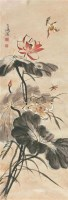 翠鸟 立轴 设色纸本 - 116837 - 中国书画 - 北京康泰首届艺术品拍卖会 -收藏网