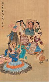 程宗元 我们热爱毛主席 立轴 - 126739 - 中国书画 - 2007年秋季艺术品拍卖会 -收藏网
