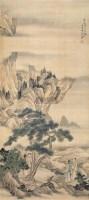 深山相会 立轴 设色绢本 -  - 中国古代书画 - 2005秋季艺术品拍卖会 -收藏网