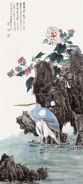 花鸟 立轴 设色纸本 - 139818 - 中国书画 - 2011年春季拍卖会(329期) -收藏网