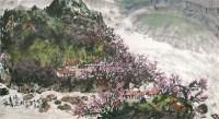 山水 纸本设色 - 66682 - 中国书画 - 2011春季艺术品拍卖会 -收藏网