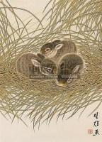 兔子 镜心 设色纸本 - 117202 - 书画、油画及瓷杂 - 2006年秋季艺术品拍卖会 -收藏网