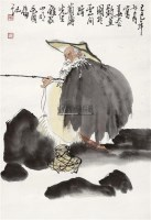 姜太公钓鱼 立轴 设色纸本 - 10314 - 中国书画(一) - 2011年夏季拍卖会 -收藏网