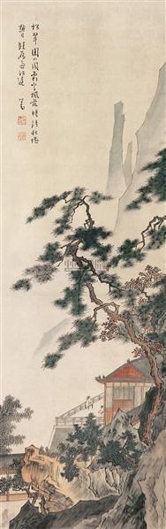 山水 立轴 设色绢本 - 1518 - 中国书画(一) - 2006年秋季拍卖会 -收藏网