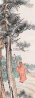 问道图 立轴 设色纸本 -  - 海上旧梦(四) - 2010年春季艺术品拍卖会 -收藏网
