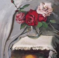 何孔德 瓶花 布面油画 - 140659 - 中国油画 - 2006秋季艺术品拍卖会 -收藏网