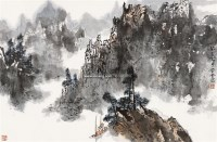 山水 带框 纸本 - 129692 - 保真作品专题 - 2011春季书画拍卖会 -收藏网