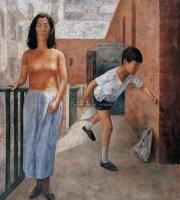 狭窄的旧楼道 布面油画 -  - 中国油画 - 2005秋季大型艺术品拍卖会 -收藏网