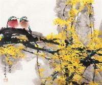 迎春 镜框 设色纸本 -  - 中国书画专场 - 迎新春书画精品拍卖会 -中国收藏网