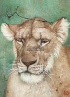 狮 镜片 设色纸本 - 127756 - 书画 - 2011年拍卖会 -收藏网