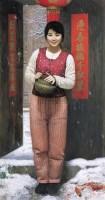 瑞雪 布面油彩 - 155347 - 中国油画(一) - 2006年中国艺术品春季拍卖会 -收藏网