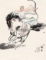 骑射 软片 - 陈忠志 - 中国书画 - 2011年春季艺术品拍卖会 -收藏网