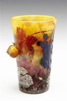 杜姆兄弟 葡萄与蜗牛图案花瓶 -  - 装饰美术 - 2011秋季伊斯特香港拍卖会 -收藏网