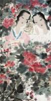 仕女图 镜片 - 黄国武 - 中国书画 - 壬辰迎春 -中国收藏网