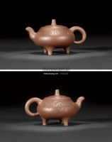 李伟  三足(姚小尧绘) -  - 啖墨茹砂—紫砂名家名作 - 2011春季艺术品拍卖会 -收藏网