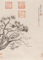 三友图 立轴 水墨纸本 - 乾隆皇帝 - 中国书画(二) - 2006春季拍卖会 -收藏网