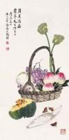 消夏清品 立轴 设色纸本 - 金梦石 - 中国书画(一) - 2007秋季大型拍卖会 -收藏网