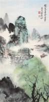 山水 立轴 设色纸本 -  - 中国书画 - 第117期月末拍卖会 -收藏网
