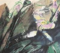 荷花 镜心 设色纸本 - 张志中 - 中国书画 - 2005秋季艺术品拍卖会 -中国收藏网