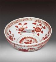 釉里红缠枝花卉纹碗 -  - 瓷器 - 2011中博香港大型艺术品拍卖会 -收藏网