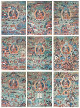莲花生传记唐卡 (九幅) -  - 佛像唐卡 - 2007春季艺术品拍卖会 -收藏网
