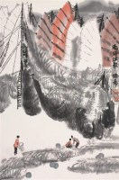 南海渔歌 立轴 设色纸本 - 119126 - 中国书画 - 2006秋季拍卖会 -收藏网