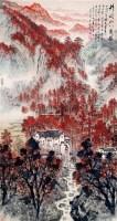 井冈山八角楼 立轴 纸本 - 5002 - 中国书画 - 2011春季艺术品拍卖会 -收藏网