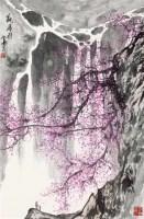 观瀑图 立轴 设色纸本 - 129692 - 中国书画一 - 2011年秋季艺术品拍卖会 -中国收藏网