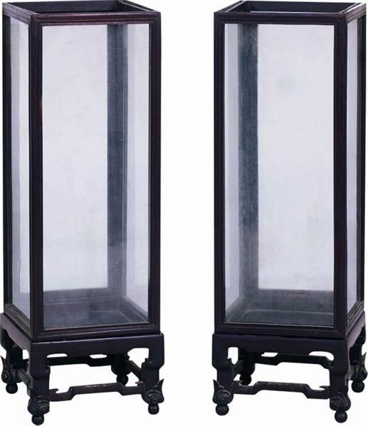 红木风灯 (一对) -  - 明清家具文房小件专场 - 首届明清家具文房小件拍卖会 -收藏网