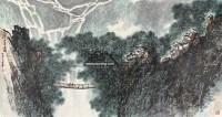山寨春雨 镜心 设色纸本 - 张登堂 - 中国书画(二) - 2009春季大型艺术品拍卖会 -收藏网