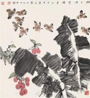 花鸟 立轴 设色纸本 - 竹樵 - 中国书画 - 2006艺术品拍卖会 -收藏网