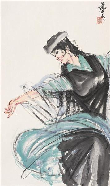 黄胄 新疆舞蹈