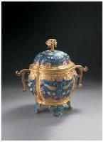 清乾隆 錾掐珐琅饕餮纹海棠式炉 -  - 中国瓷器 玉器及杂项 - 2007年秋季大型艺术品拍卖会 -收藏网