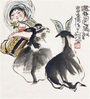 人物小品 立轴 设色纸本 - 116015 - 中国书画 - 2011首场艺术品秋季拍卖会 -中国收藏网