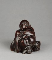 竹雕布袋和尚 -  - 宽以居藏文房珍玩(Ⅱ) - 2011春季拍卖会 -中国收藏网