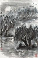 平湖夜月 镜片 设色纸本 - 崔振宽 - 中国书画一 - 2011年春季艺术品拍卖会 -中国收藏网