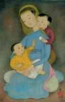 MAI TRUNG THU Mother with two children -  - 现代及当代东南亚艺术 - 2007春季艺术品拍卖会 -收藏网
